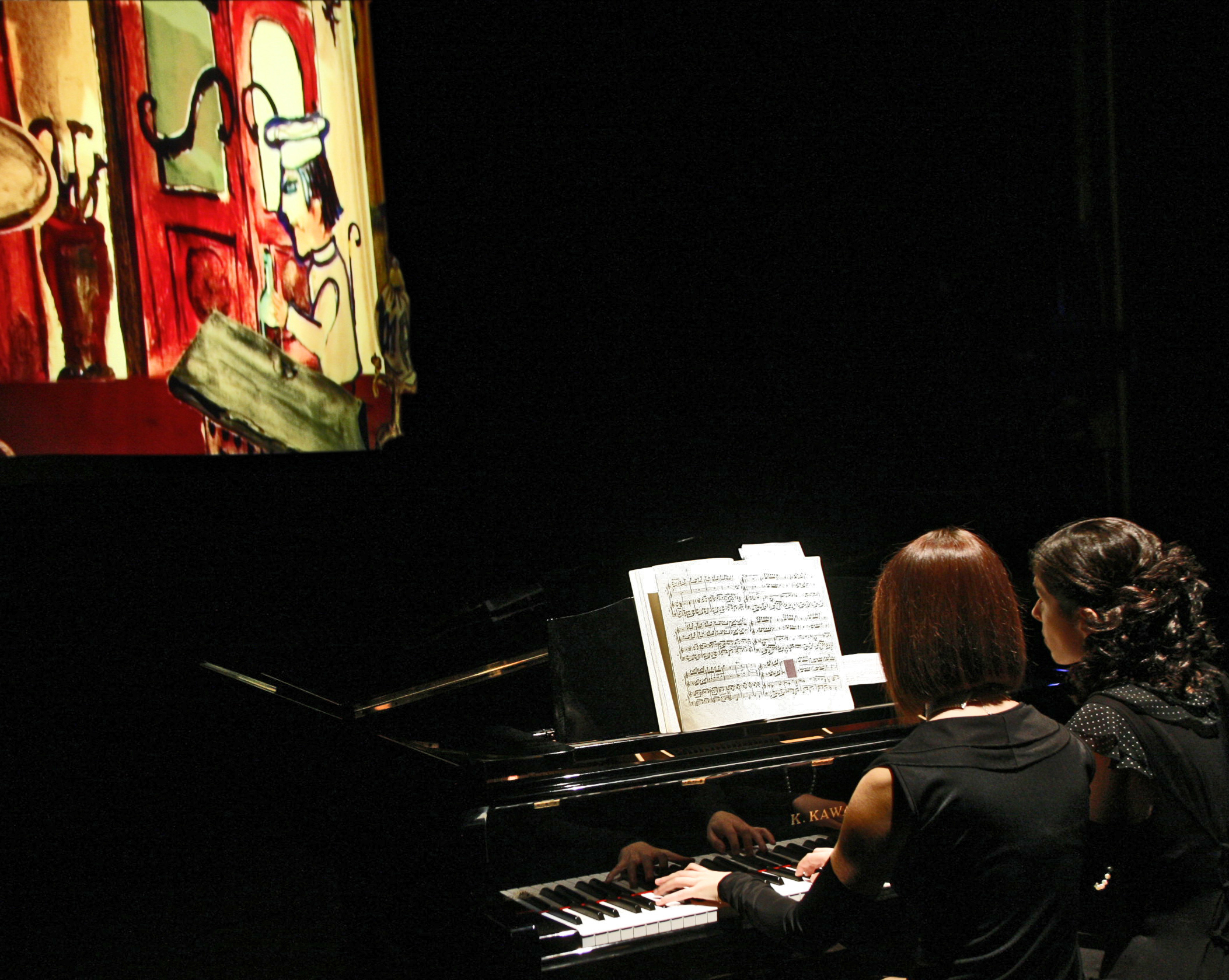 LE BOEUF SUR LE TOIT piano 4 hands and videoart