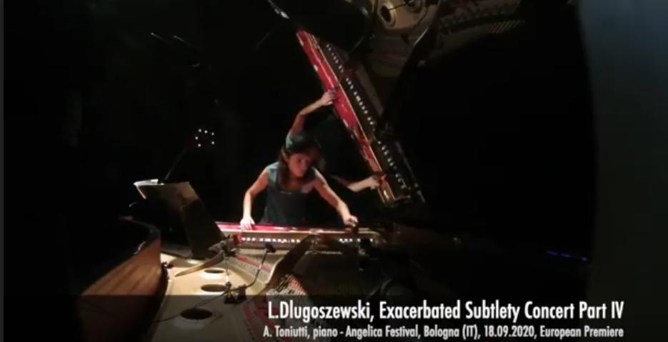 A.Toniutti/Dlugoszewski premiere Bologna 2020